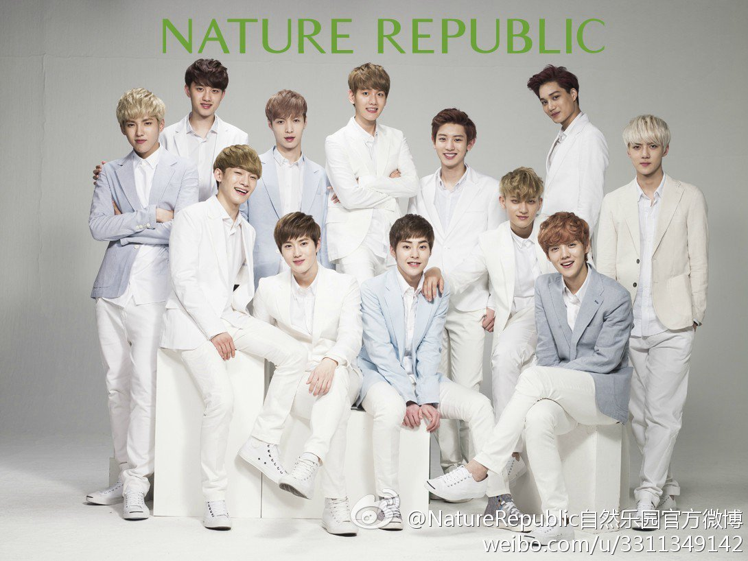 After modeling for Nature Republic, EXO made the business's deficit turn into profit in 1 year only.... now Nature Republic has the most stores in Myeongdong and branches in many countries.. All thanks to EXO <br>http://pic.twitter.com/N0qSdWPcce
