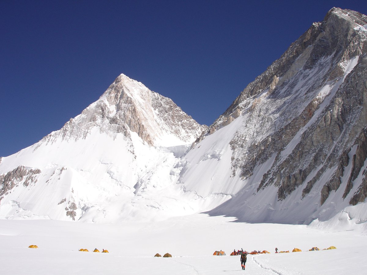 Gasherbrum 1 OR 2 climb 45 days in June - July. G2: easiest of the world's fourteen highest 8000 metre peaks. Gasherbrum summiter Dan Mazur leading + super strong Nepal Sherpas. We visit Karakoram each summer.   #Gasherbrum #14thhighest #8000metrepeaks #Climbing #SummitClimb