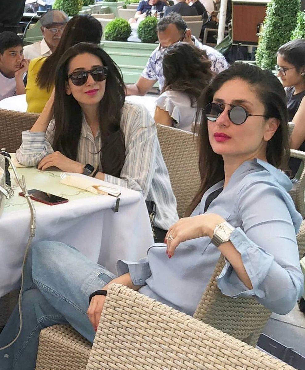 These sisters always slay! 😍🔥💕 Follow @viralfundamedia . . #kareenakapoorkhan #kareenakapoor #karismakapoor #family #sisters #fans #bollywood #glam #holiday #london #throwback #cute #pretty #makeup #viralfunda