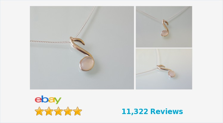 Brand New 925 Sterling Silver and mother of pearl small music note Necklace | eBay #sterlingsilver #motheofpearl #music #musicnote #pendant #necklace #handmade #jewellery #musiclover #gifts #giftideas #giftsforher #pretty #cute #jewelry #accessories