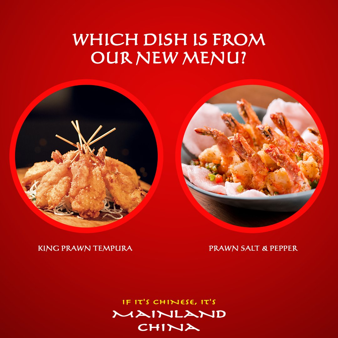 Up next is the fourth question! Can you guess which dish is from our new menu? Mainland China is celebrating the New Year with New Taste, New Flavours & New Menu along with loads of prizes. #MainlandChina #NewFlavoursOfMLC #ContestAlert #GuessTheDish #NewYearNewMenu #NewinMLC