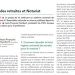 Image for the Tweet beginning: Réforme des #Retraites et #Notariat,