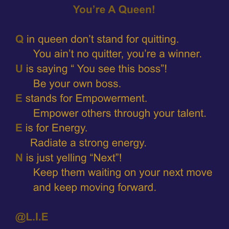 #queen #Diva #boss #empowered #energy #winner #poetry #poetrylovers #poetrywriter #poet #poem #poemoftheday #lifting #inspiring #ENCOURAGEMENT #encouragingpic.twitter.com/awgSGFeHtg