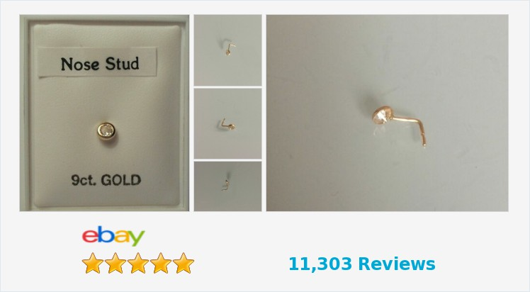Brand New 9ct Gold & Cubic Zirconia 3mm Round Rub Over L shaped Nose Stud   eBay #9ct #gold #cubiczirconia #rubover #nosestud #bodypiercing #bodyjewellery #jewellery #gifts #giftideas #giftsforher #giftsforhim #jewelry #jewelrylover #jewelryaddict