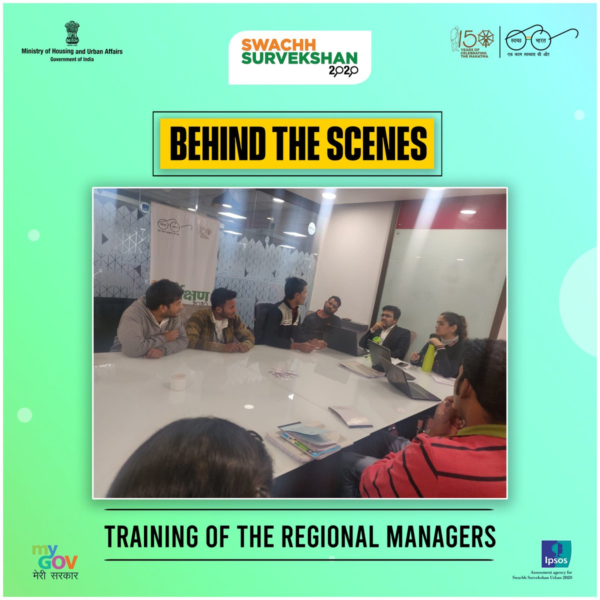 Take a peak #BehindTheScenes of #SwachhSurvekshan2020.  Before they could train, we ensured that they were trained!  #SwachhBharat #BTS https://t.co/UsiB42aUqn