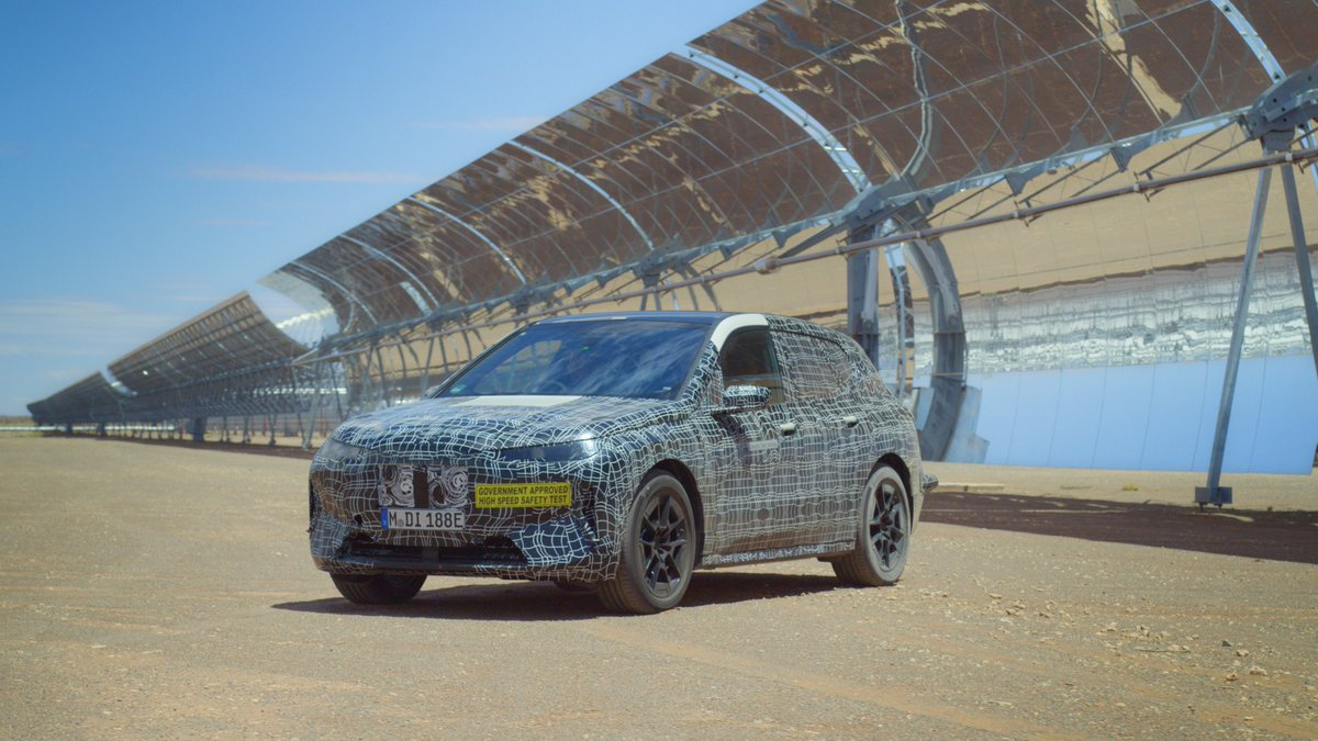 The #BMW #iNEXT is entering its hottest test phase. Our #technology #flagship is mastering the challenges of extreme heat, solar radiation, and dust formation during test drives across the deserts of South Africa.  #BMWGroup
