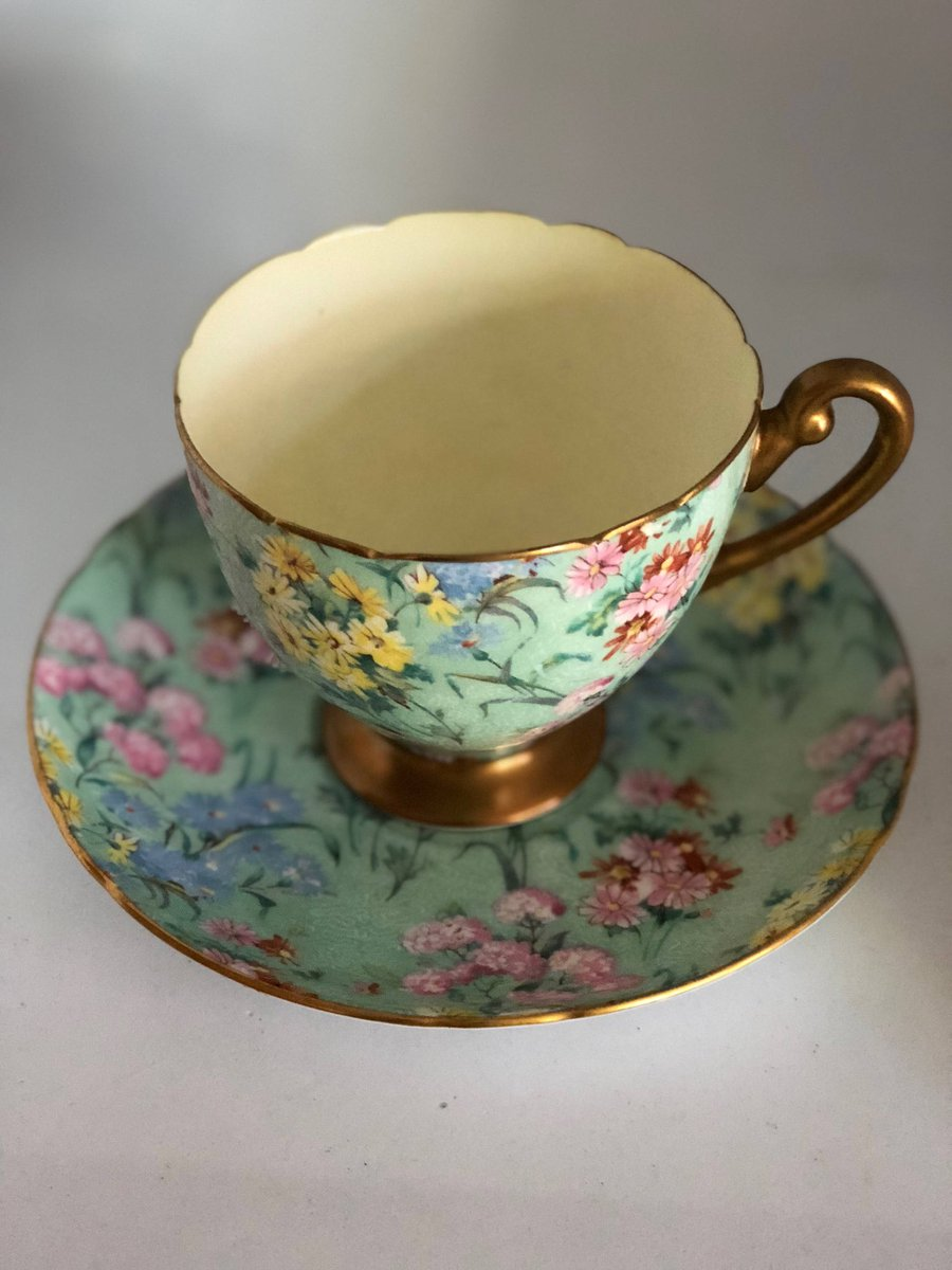 Excited to share this item from my #etsy shop: Tea cup and Saucer by Shelly , Bone China , Vintage Melody Cup and Sauser , Collectible Tea Cups  #teacups #vintagefind #pretty #etsyvintage #etsyshop