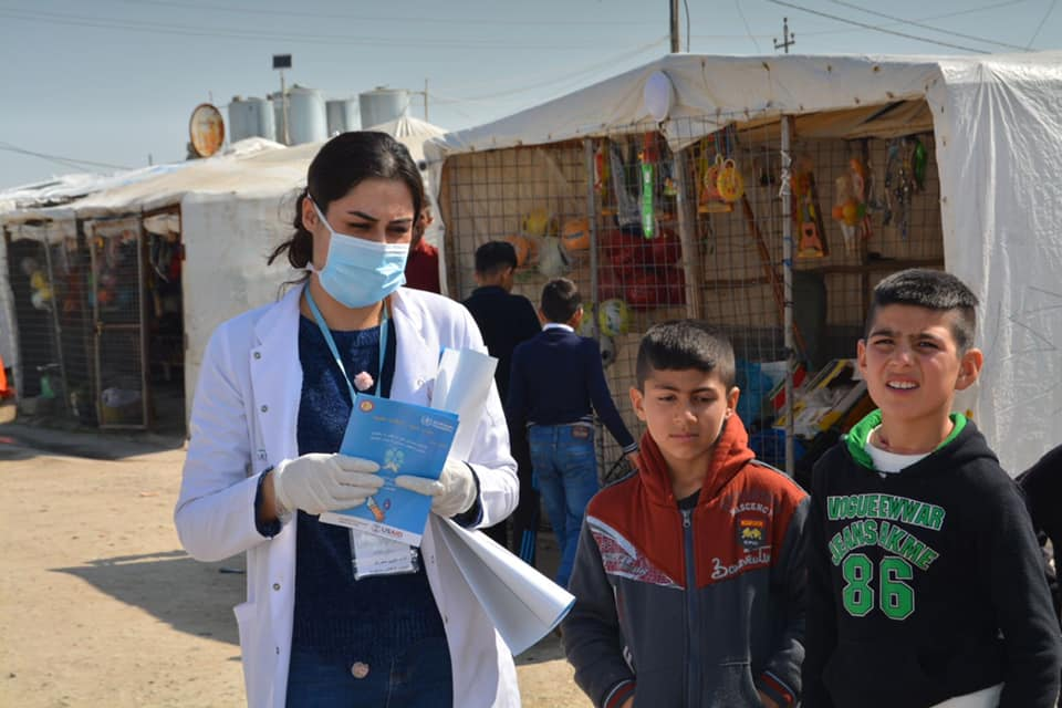 test Twitter Media - In response to the #COVID19 cases in #Iraq, our healthcare team in Khanke IDP camp have launched an awareness campaign about the virus. Camp communities are already exceptionally vulnerable and our doctors and nurses are doing all they can to help prevent an outbreak. @MosulEye https://t.co/xlKG7hq95G