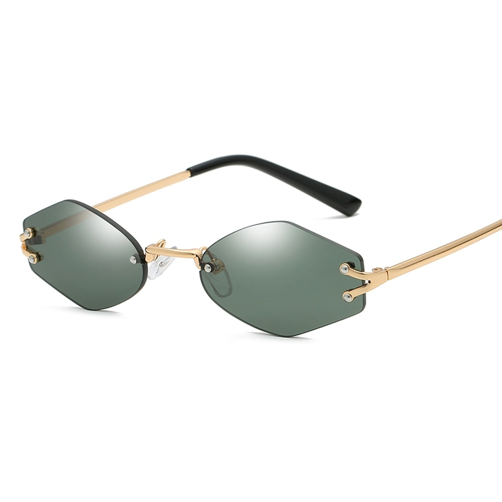 #shoes #pretty Unisex Rimless Hexagonal Sunglasses