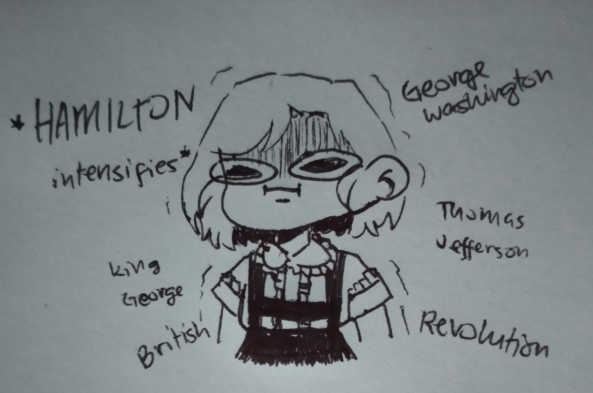 In my english class we were talking about the Revolutionary America and the war between the British and Americans. And throught that whole discussion all that I could think about was the musical Hamilton. Alexander wasn't mentioned so that made me upset :(( <br>http://pic.twitter.com/YgBGmdB3Fi