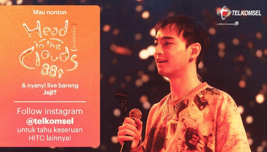 Saksikan penampilan #LebihMaksimal dari Joji di Head In The Clouds pada 7 Maret 2020 di JIExpo kemayoran Jakarta.  Kamu juga bisa #TerusBergerakMaju dengan update di media sosial dengan mengaktifkan paket OMG!  Cari info update-nya di http://tsel.me/TelkomselxHITC  #TelkomselxHITCpic.twitter.com/4un8a7E9GB