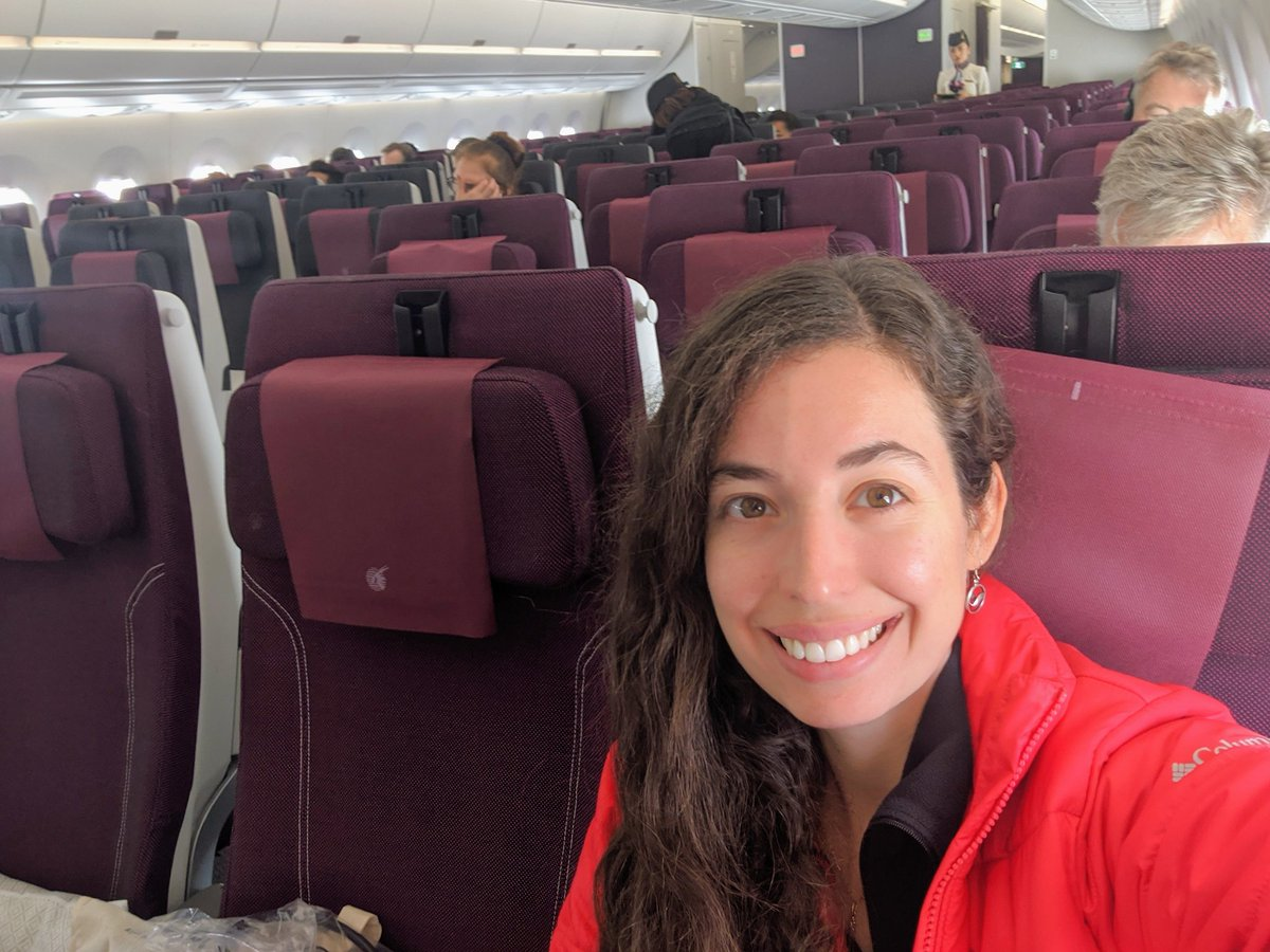 Coronavirus consequences: only 45 people on board the Qatar Doha-Singapore flight on an A350 with capacity for over 300 passengers. Cabin crew told me that at least the cargo is full :). #Coronavirus #flight #travel #trip #plane #aircraft #Qatar #Singapore