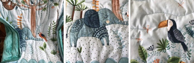 New in  #babyshower #quiltsforsale #etsy #handmade #ukgiftam #CraftBizParty #bluenursery #nurserydecor #shopsmall #etsyhandmade #etsyfinds #etsyretweet #quiltedthrow #toddler #junglenursery #blue #elephant #supporthandmade