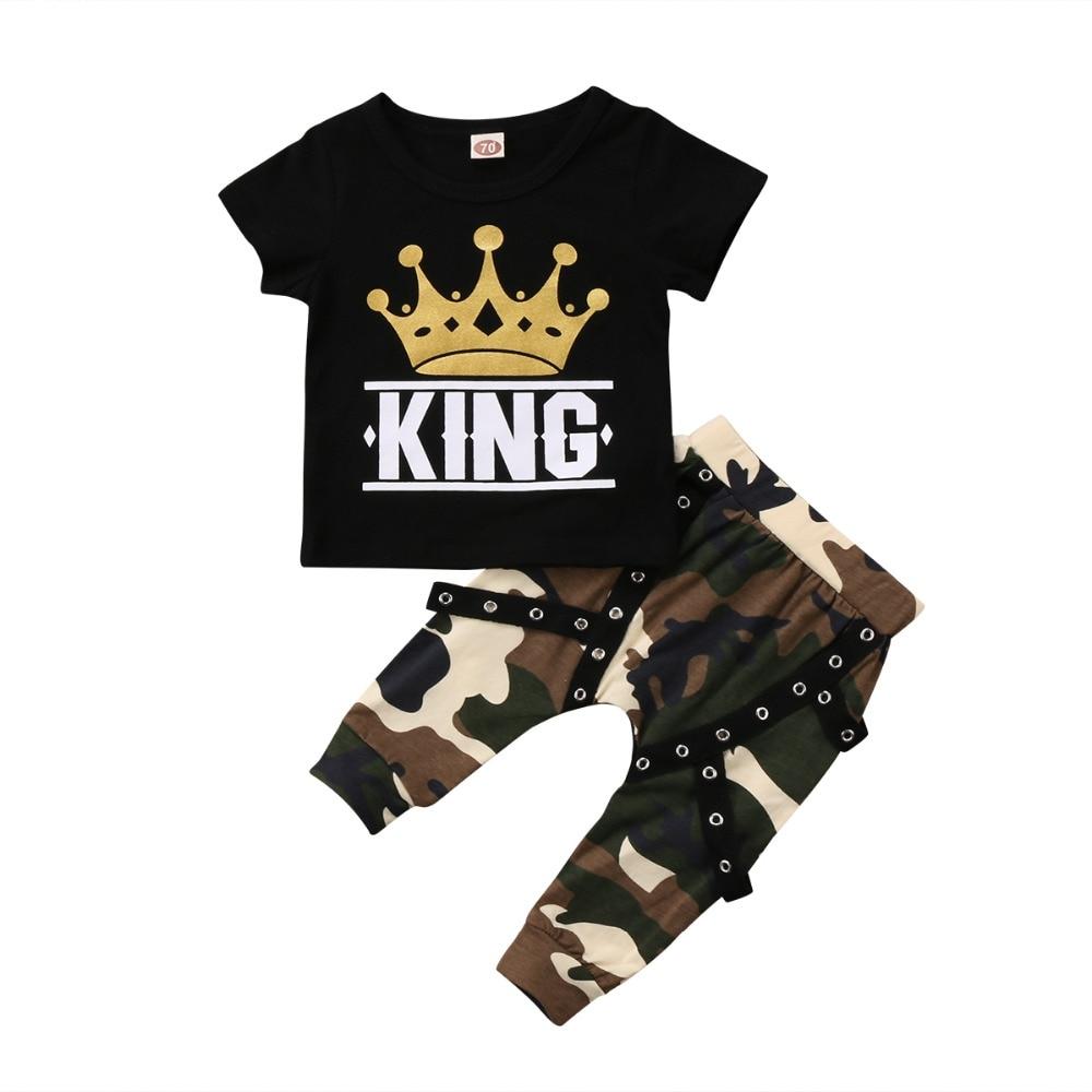 #babyshop #bebe #sweet Printed T-Shirt and Camouflage Pants