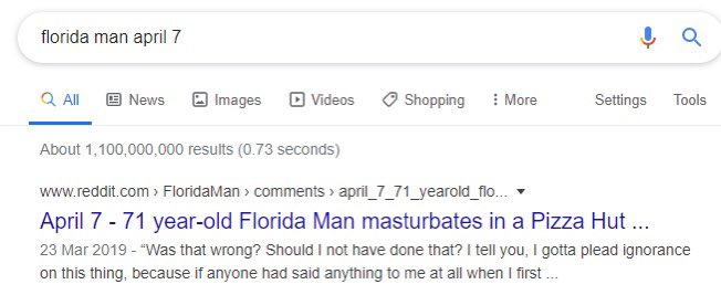 Listening to today's @lukeandpeteshow and of course I had to investigate the #FloridaMan experiment.... safe to say a satisfying result! pic.twitter.com/OzqbCMpOBj