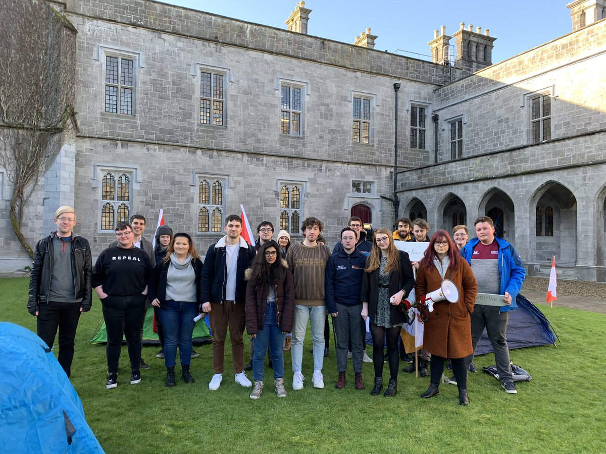 Join us at the Quad now and say NO to rent hikes for #NUIGalway student accommodation   #FreezeTheFour #BreakTheBarriers #DontMakeUnnecessaryRentHikes