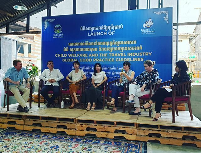 Panel discussion on protecting children in the tourism industry #childprotection #tourism #cambodia #southeastasia @childsafemovement @maadshotels @unicefcambodia @exotravel.id @gadventures @cambodia.airports @discovatravel @lonelyplanet https://ift.tt/2Vttdb0 pic.twitter.com/j06Vuvywds