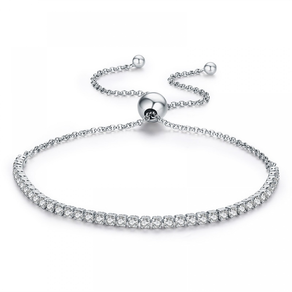 Jewelry Addicts offers super high quality jewelry at 70% below retail!  Never pay full price again!  #jewelryforsale Women's Thin Silver Chain Bracelet