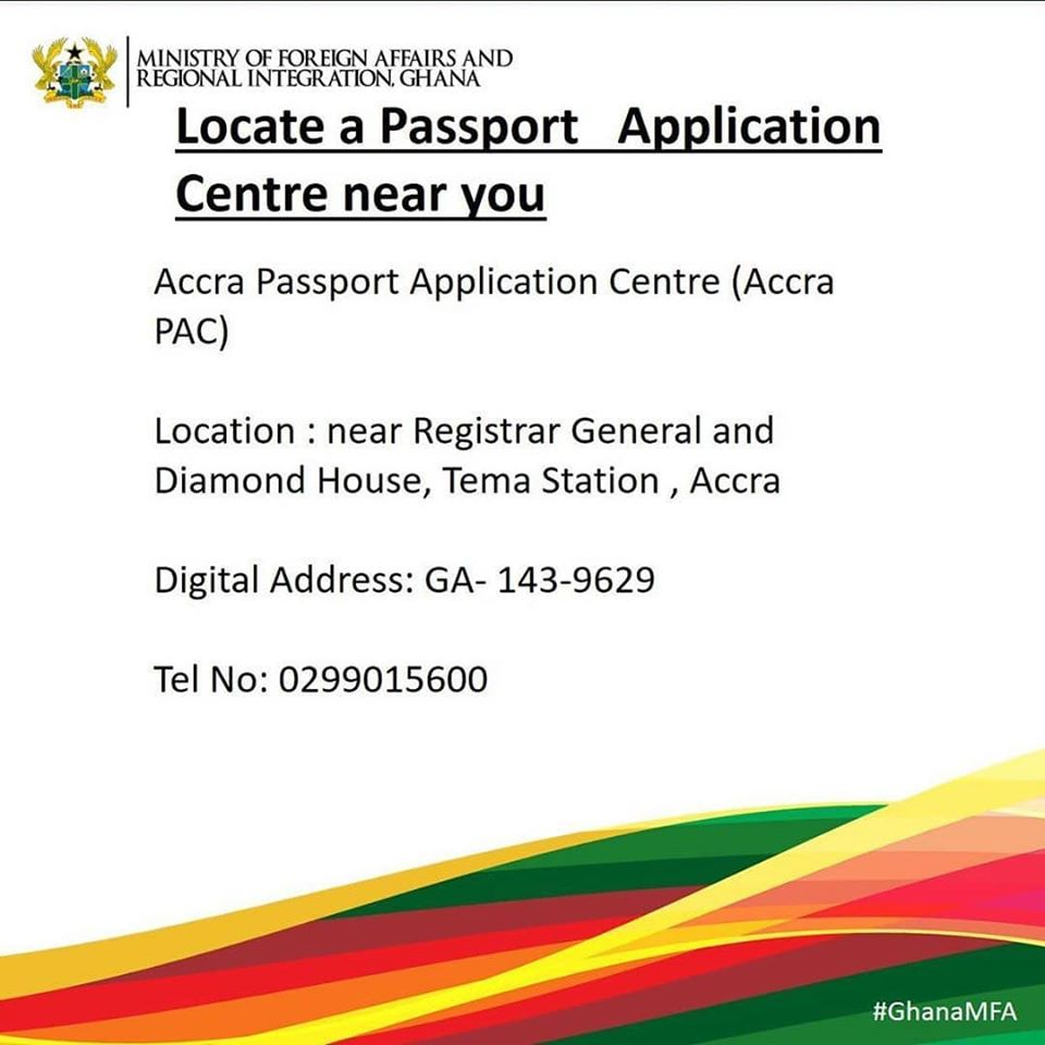 Know your Passport Application Centres. #passport #Ghana #ghanaian #MFARIGhana  1/3