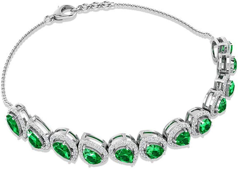 Dainty Emerald Charm Bracelet, IGI Certified Diamond Halo Chain Bracelet, Bridesmaid Wedding Bracelet, IJ-SI Color Clarity Diamond Gemstone Bracelet  https://www.amazon.com/dp/B0855DMPZS/pic.twitter.com/Ayt7B0t5db