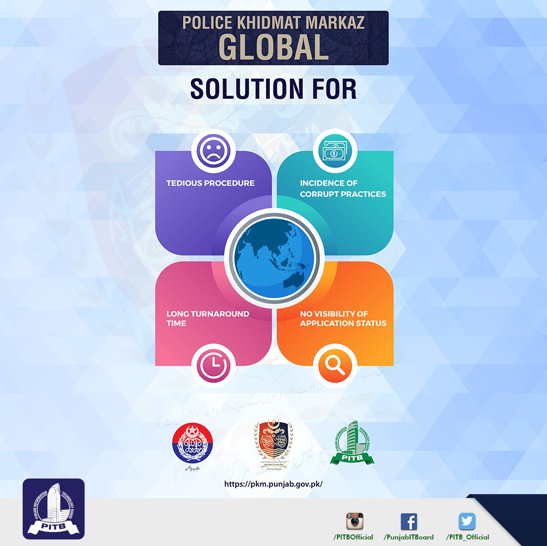 Police Khidmat Markaz Global, a joint effort of PITB & Punjab Police, has been launched to facilitate the extensive population of overseas Pakistanis. The idea behind the portal was to eliminate the hurdles expats faced in the acquisition of police-related documents.pic.twitter.com/ZshGM1Fzu9