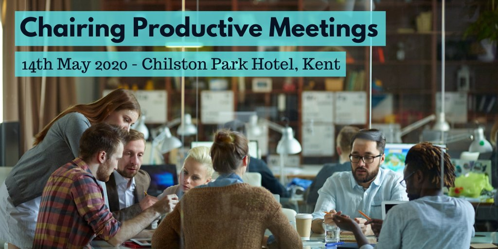 Someone on the radio this morning said they were giving up going to #meetings for #lent! Are your meetings #productive & worthwhile?. Learn more and join us for #training @ChilstonPark, #Kent on 14 May.  For info, visit  #KentBusiness #work #skills
