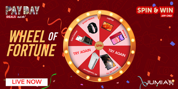 LIVE NOW Click => http:// bit.ly/2w9Co5X      to enter our Wheel of Fortune contest on the App RT, Like, Spin & Reply with as many screenshots of your prize Comment using #JumiaSpinAndWin One winner will be selected @ random Contest available until Feb 28th @ 12pm<br>http://pic.twitter.com/nVCBtYW7cE