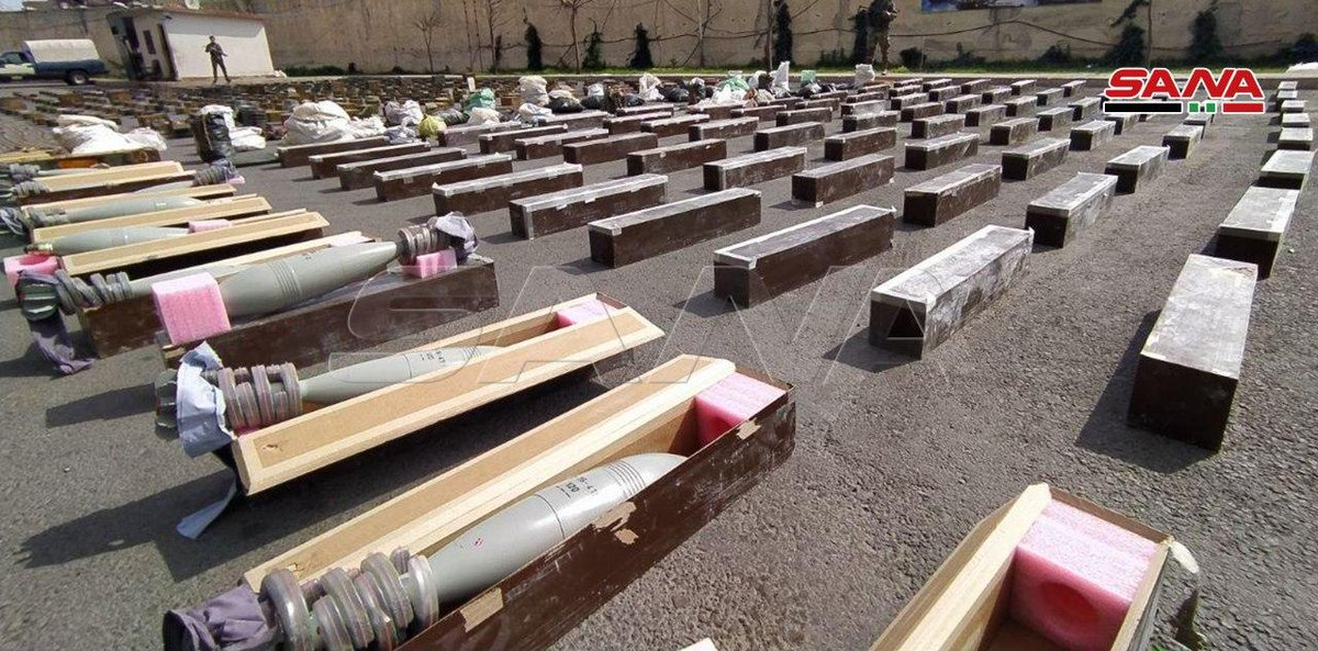 #Syrian authorities seize large amount of weapons discovered in former rebel held areas in southern #Syria. <br>http://pic.twitter.com/qVP6Uhoj8I