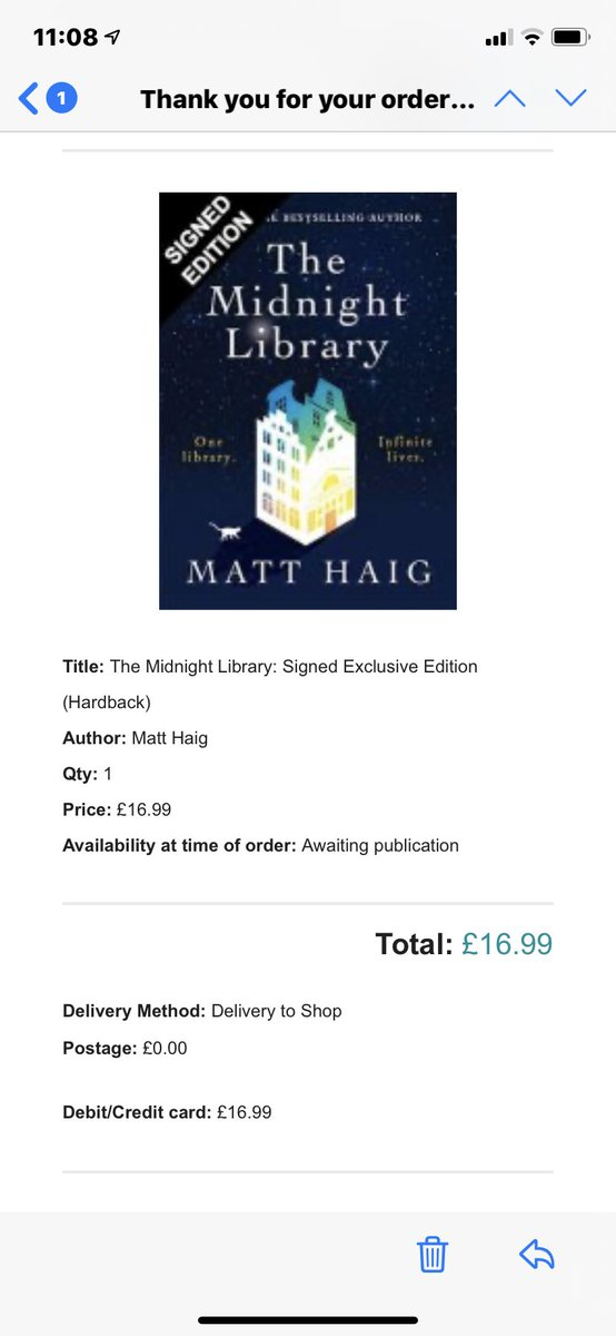 Today is a great day. @matthaig1