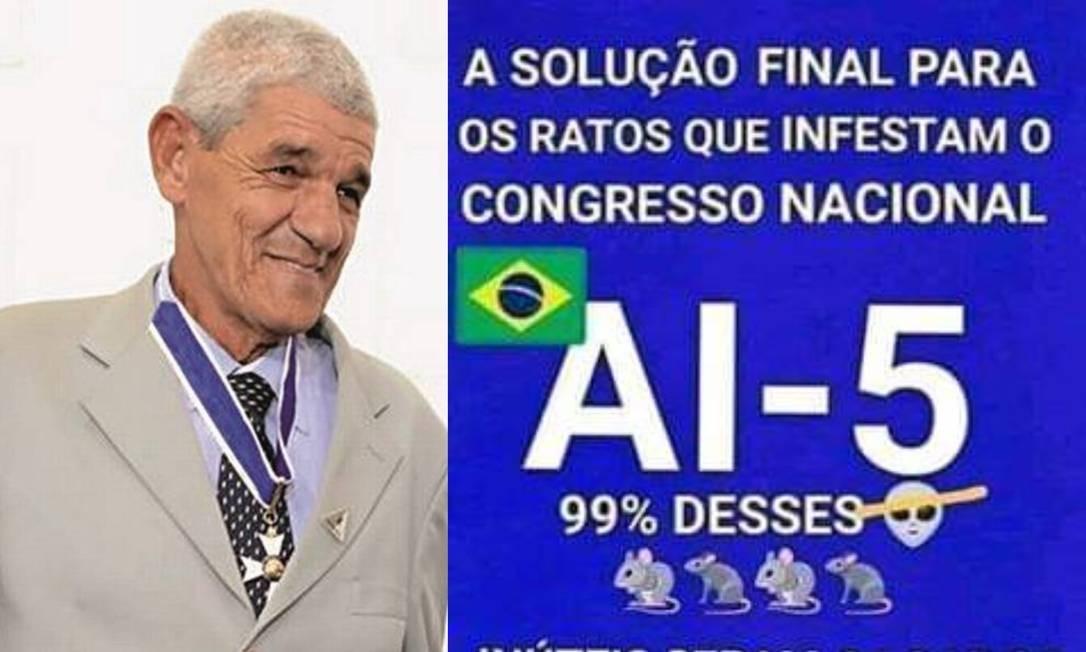 Conselheiro de Bolsonaro convoca para protestos contra Congresso e STF; veja print https://glo.bo/2PuN4CT