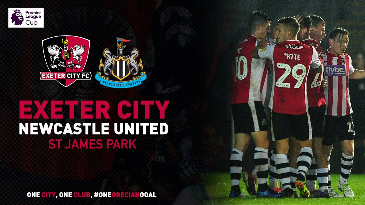 🏆 Exeter City under-23s will face @NUFC under-23s at (the real) St James Park in the last-16 of the @PLYouth Premier League Cup 👊 The date and admission details will follow soon. #OneGrecianGoal #ECFC