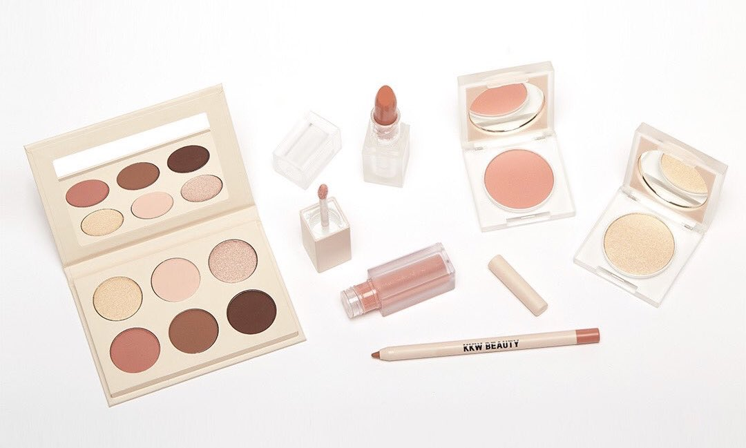 The Mrs. West Collection restocks in ONE hour at 9AM PST at http://KKWBEAUTY.COM Are you guys excited???