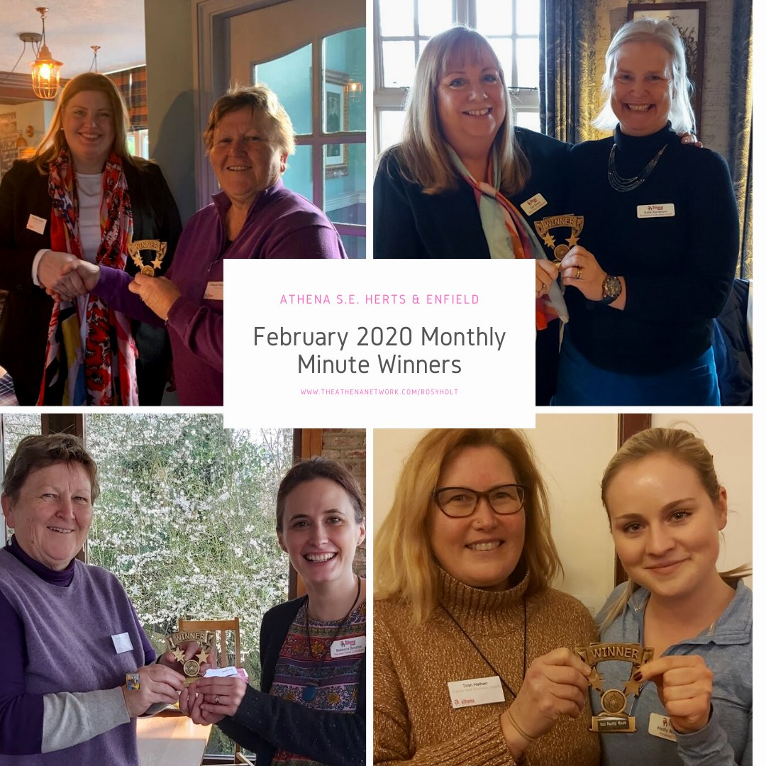 And the winners of their 60 second business presentations in our South East Herts & Enfield #AthenaNetwork region this month were................. Next month, like this, the winners will chose their successors. #businessnetworking #womeninbusiness #enfield #herts https://t.co/30saLW5seI