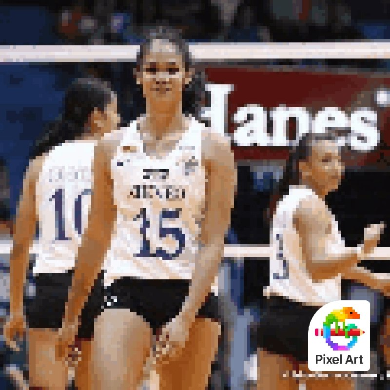 This girl is the main reason why no.15 is my favorite number. I'm so excited to see her again, playing for the blue and white. Good luck ate Jho!!! Luv youuu  (Aacckkk HAHAHA Ang saya magpixel art skl) <br>http://pic.twitter.com/bgHim11ZQJ
