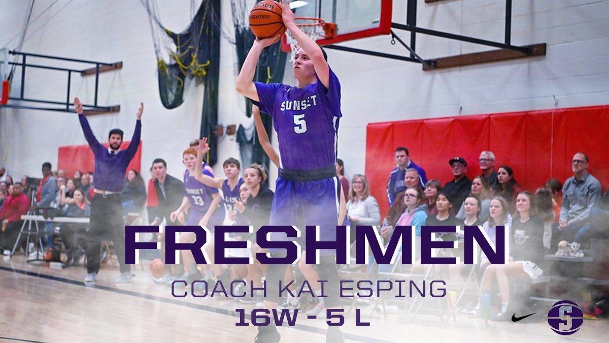 Shoutout to our Freshman Team and first year coach Kai Esping on finishing the year 16-5. Great season fellas! #goapollos #purplereignpic.twitter.com/MlSKLS83Wk