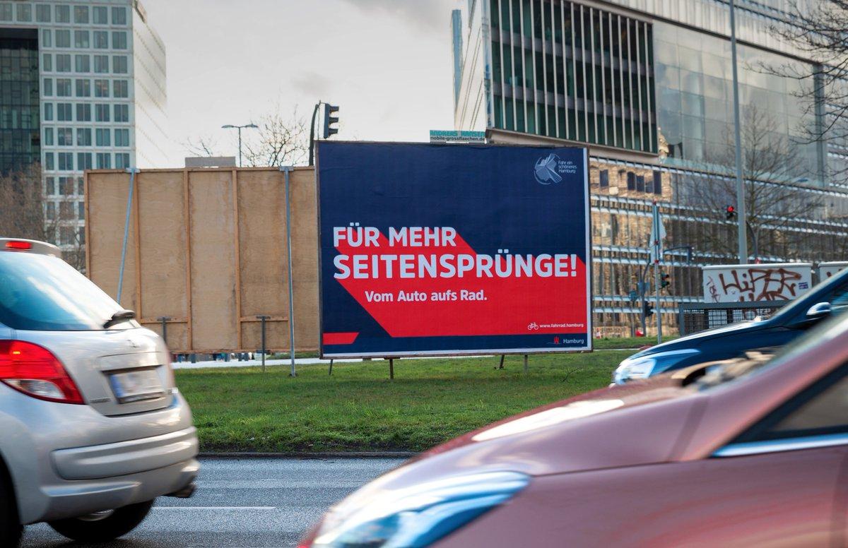 Wir machen #Wahlkampf - für die Hamburger Radkampagne!  Außergewöhnlicher Out-of-Home-Flight, nice.  Mehr dazu heute Abend auf @RTLNord oder in der @mopohttp://bit.ly/3a9lrqPpic.twitter.com/p5487Zakb7