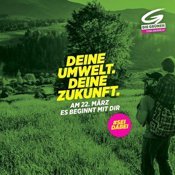 Am 22. März liegt es in deiner Hand : Machen wir gemeinsam Klima- und Umweltschutz in deiner Gemeinde stark.  Denn es ist deine Gemeinde, es ist deine Zukunft. #esbeginntmitdir #Steiermark #grw2020pic.twitter.com/e6roisntLJ