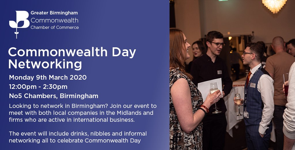 Join our #CommonwealthDay Networking Lunch! Come along and join us over lunch time to enjoy some drinks, nibbles and networking http://bit.ly/3cdzM7o pic.twitter.com/zgGev1pgLD