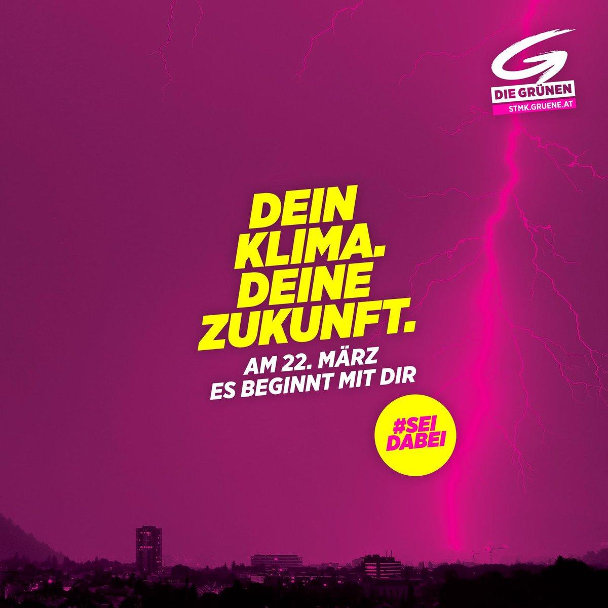 Am 22. März liegt es in deiner Hand : Machen wir gemeinsam Klima- und Umweltschutz in deiner Gemeinde stark.  Denn es ist deine Gemeinde, es ist deine Zukunft. #esbeginntmitdir #Steiermark #grw2020pic.twitter.com/cZdJOnKbPK
