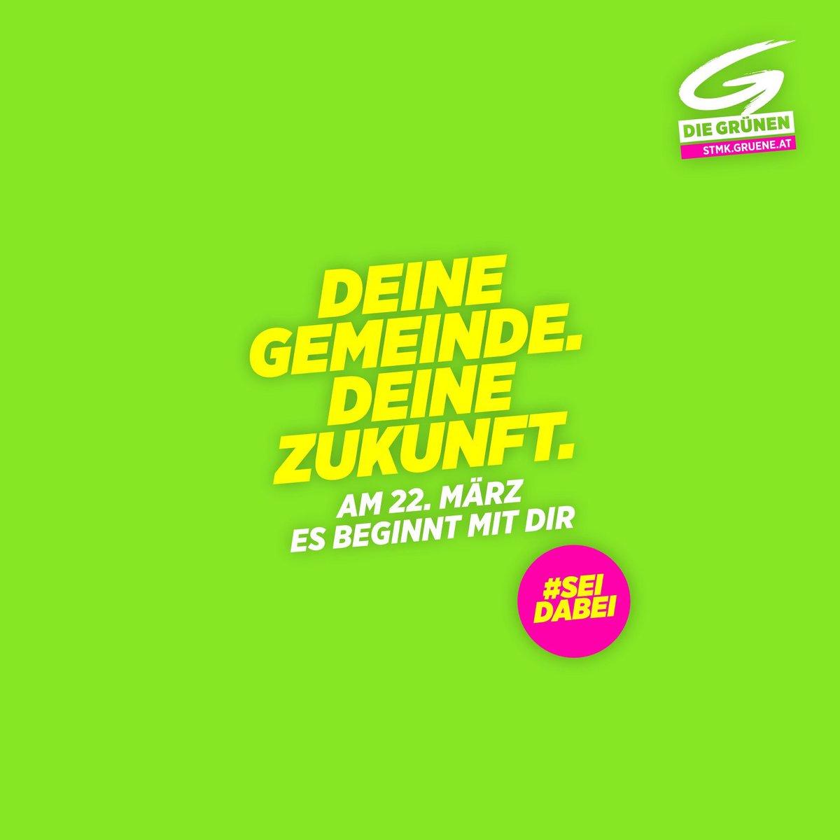 Am 22. März liegt es in deiner Hand : Machen wir gemeinsam Klima- und Umweltschutz in deiner Gemeinde stark.  Denn es ist deine Gemeinde, es ist deine Zukunft. #esbeginntmitdir #Steiermark #grw2020pic.twitter.com/BlQGFMcoIW