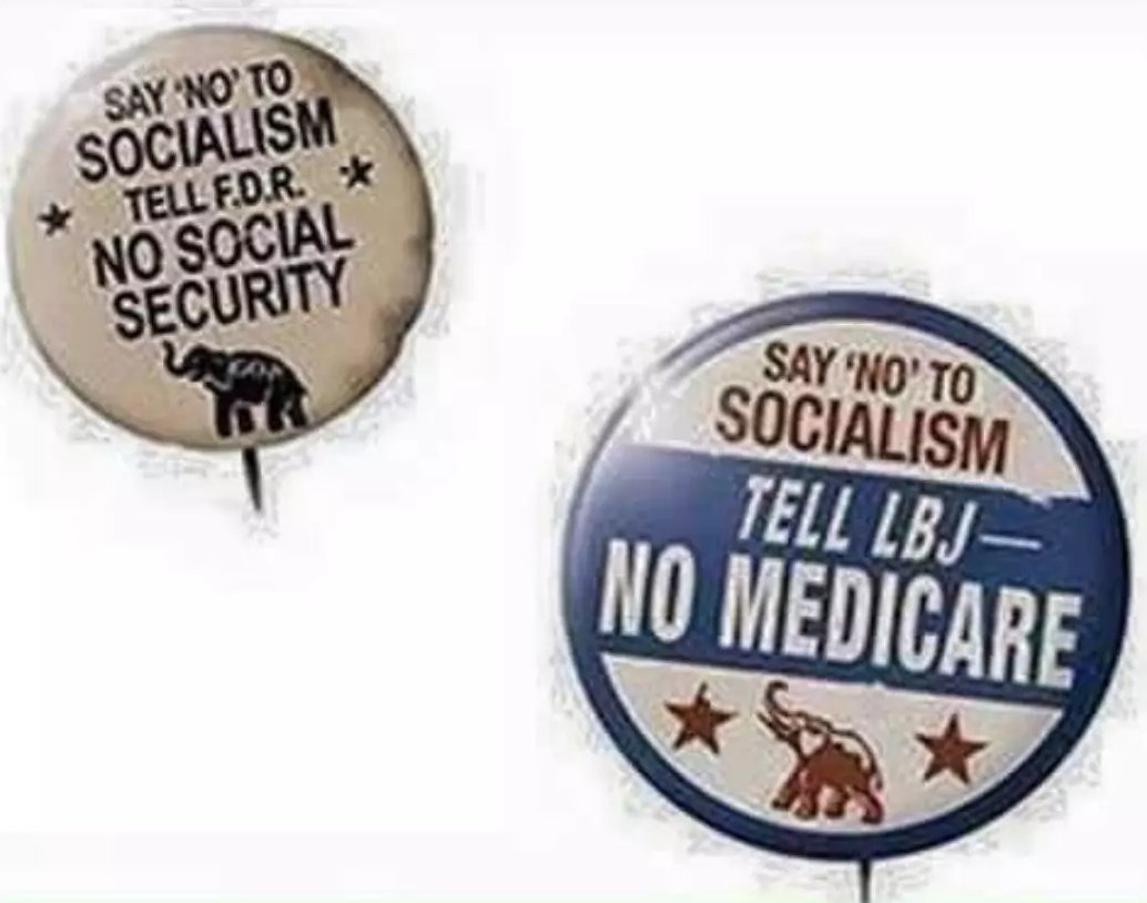 "I RT'd these ""old"" pins earlier, completely unaware they were cropped political satire. That sat on my feed longer than I'd have liked, now that I'm aware of it.  https://www.truthorfiction.com/are-fdr-and-lbj-era-say-no-to-socialism-buttons-authentic/ …  (Thank you, @Crad.)pic.twitter.com/Nq2ZmZGCpX"