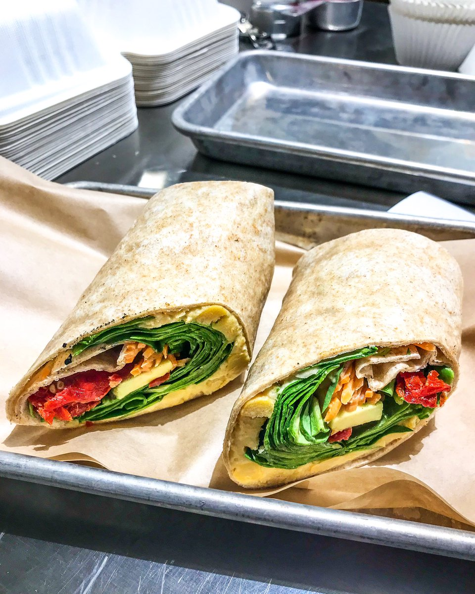 Our veggie wrap is so full of earthy goodness it'll have you feeling like spring started early!  Stop by if you like the sound of avocado, spinach, sun-dried tomatoes, carrots, hummus and balsamic glaze all wrapped up together in a whole wheat tortilla! #veggiewrap #vegetarian<br>http://pic.twitter.com/0tRzdvXl5V