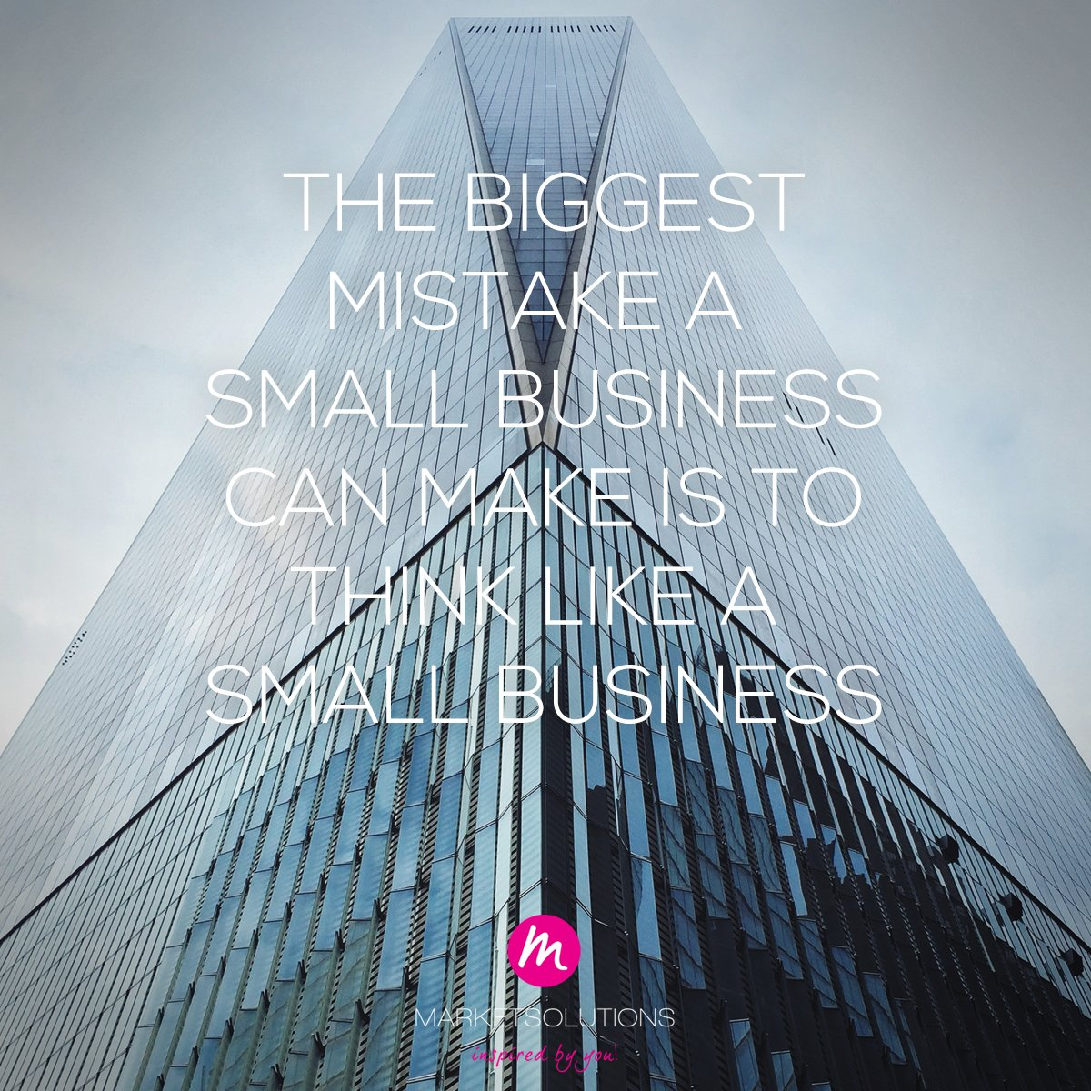 The biggest mistake a small business can make is to think like a small business#ThinkBigger #Mindset #GrowWithTheFlow #zzp #professionals #MKB #entrepreneurs #creators #goalgetters #PositiveVibes #Think #Big #Grow #Business #manifestation #Shift #Realitypic.twitter.com/3t2tFi7HsL