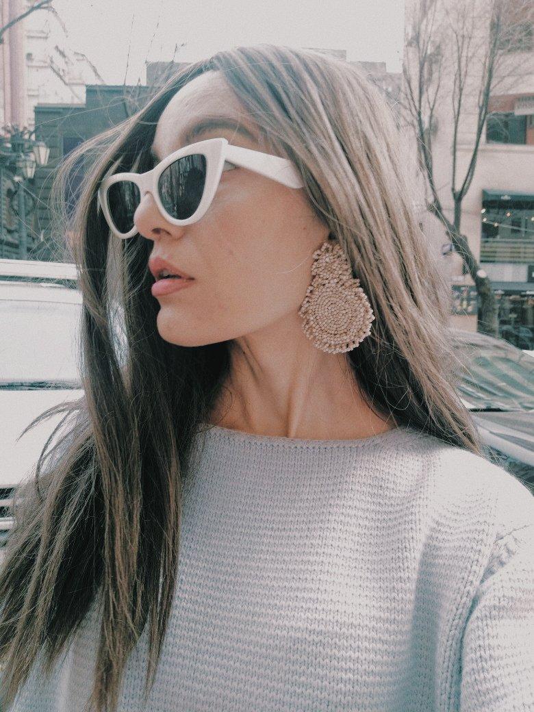 Bohemian #earrings by @officiallesebi #styleblogger #nicolematthew #lesebigirl Nicole Matthew for LESEBI ❤