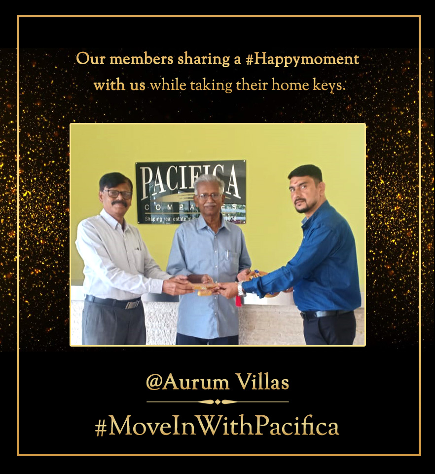 #MoveInWithPacifica |Our member sharing a #HappyMoment with us while taking their home keys at Aurum by Pacifica #Chennai Learn more about the project https://bit.ly/2Gultxt  #ReadyPossessionHomespic.twitter.com/1EG7kXpoRO