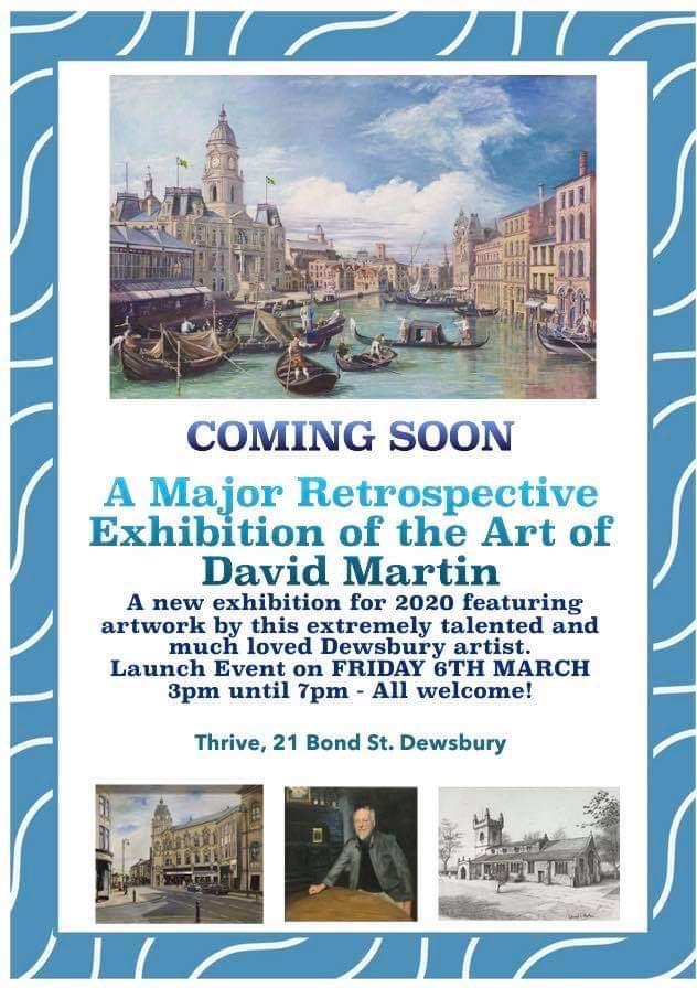 Save the date 6th March from 3pm. Stunning collection of David Martin's work including original Canaletto Veduta. Join us atv21 Bond Street Dewsbury @AnneMarieTasker @3SKirklees @ThePressLatest @DewsReporter #drawntolife @KirkleesLocalTV @BBCLookNorthpic.twitter.com/EFZSLCjyxQ