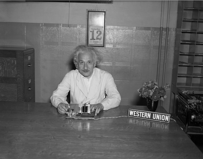 #ThrowbackThursday: This photo from June 12, 1937, shows Albert Einstein as he pressed a key in his home in Princeton, New Jersey, to officially launch the Pan American Exposition in Dallas, Texas. The key turned on the thousands of lights that illuminated the fair grounds.
