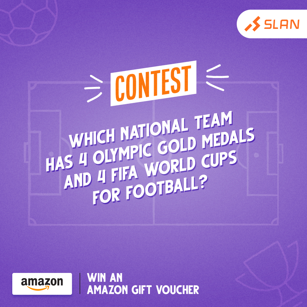 Answer this question to win Amazon Gift Vouchers. To participate, follow us on our social media platforms, mention your answer in the comments, tag five friends and share this post on your stories.  Keep playing and keep winning!  #SLAN #contest #contestalert #ContestWinner