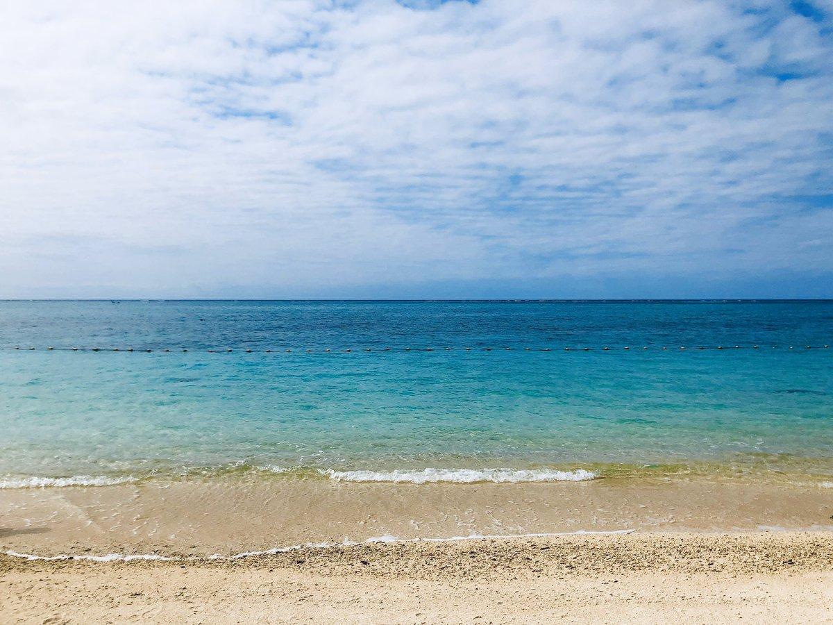 沖縄の海と空をどうぞ(*´ω`*)