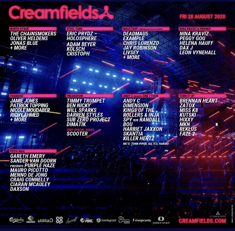 2020 Creamfields lineup